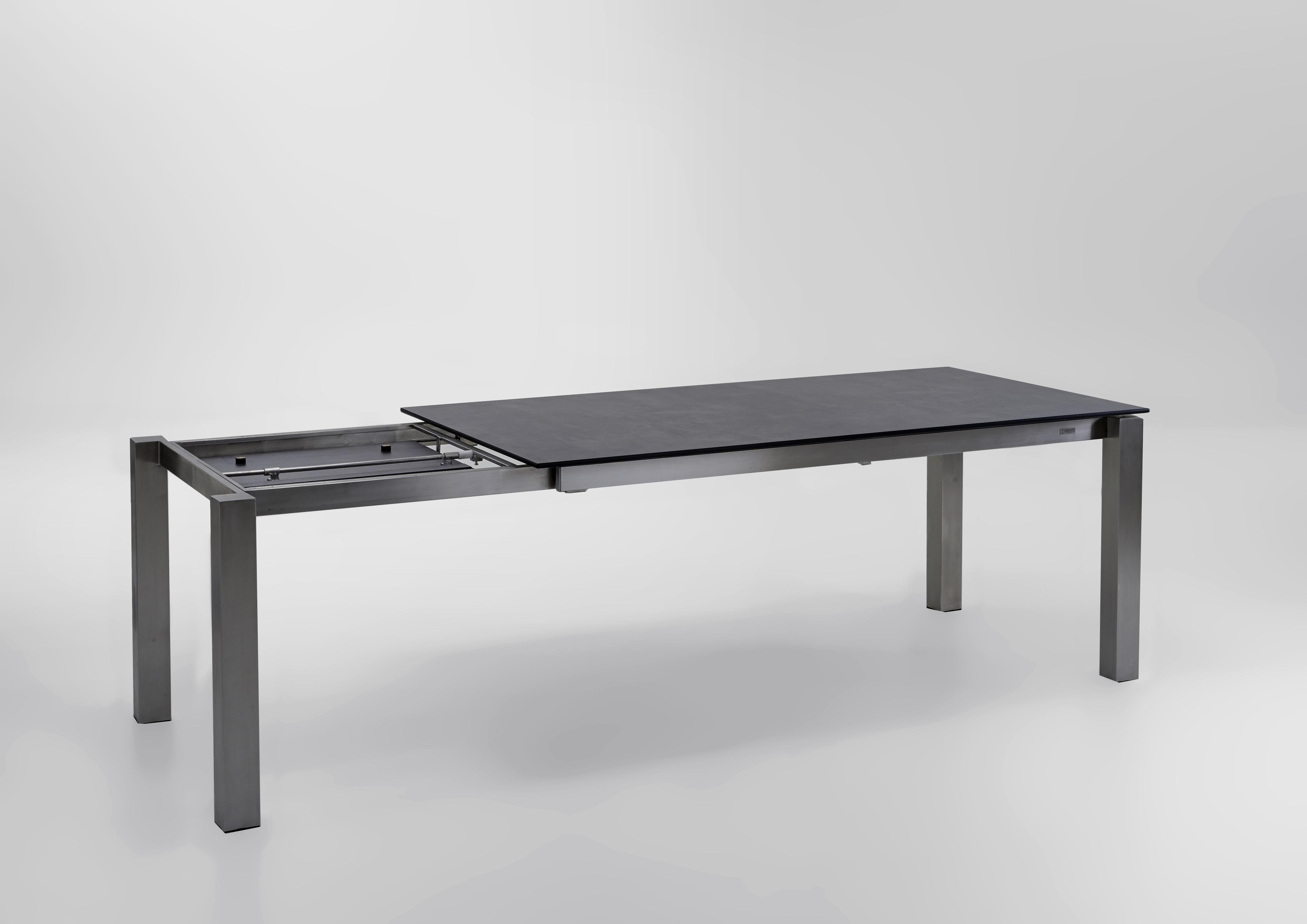 Niehoff Natascha Ausziehtisch 20   20 cm Edelstahl / HPL Beton Design