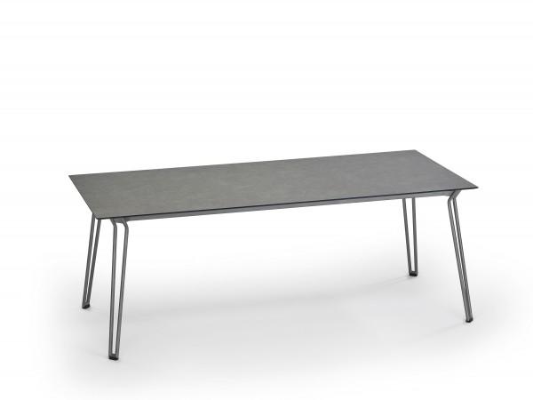 Weishäupl Slope Tisch Edelstahl/HPL-Platte steingrau 200 x 90 cm