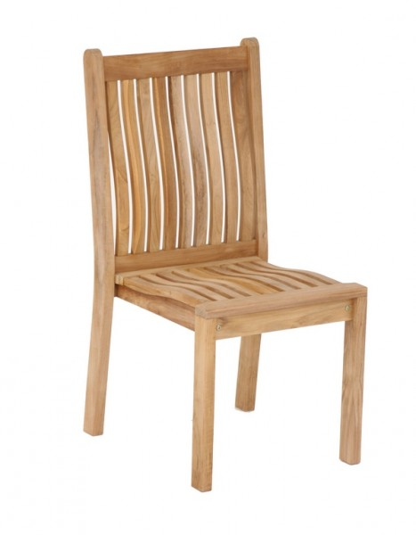 Country Stuhl stapelbar aus Teak massiv