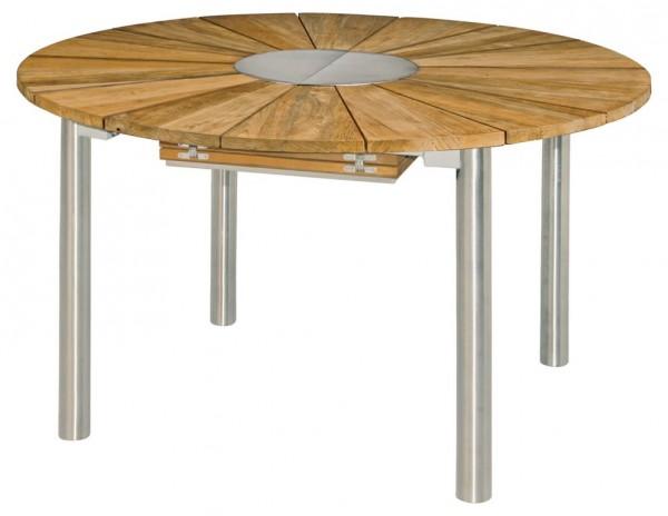 Zebra Catax Tisch rund 135 cm ausziehbar