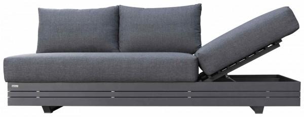 Zebra Cubo Lounge 3-Sitzer Sofa inkl. Olefin-Kissen dark grey