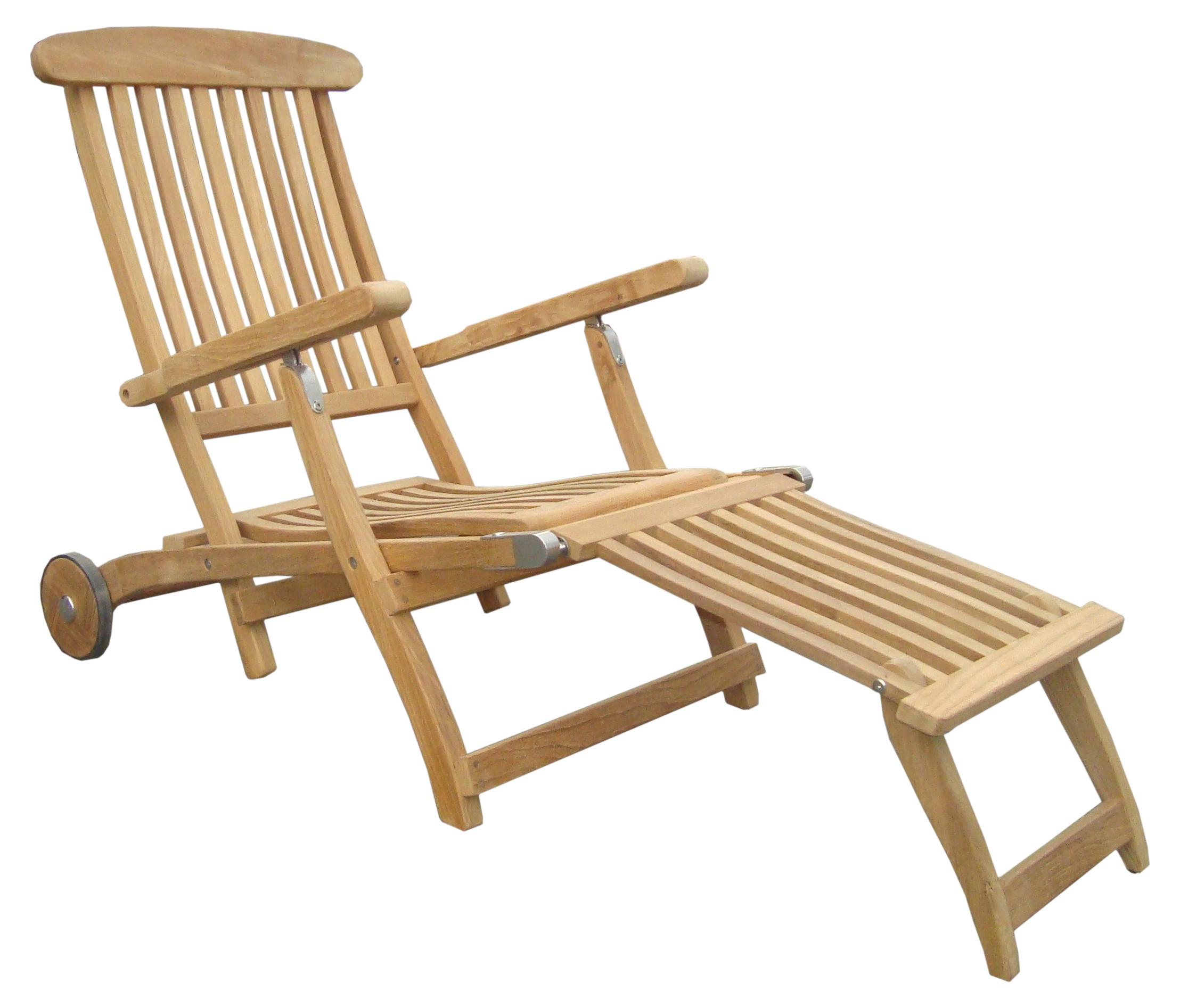 zebra bueno deckchair teak mit rollen gartenm bel von talaso talaso gartenm bel outlet. Black Bedroom Furniture Sets. Home Design Ideas