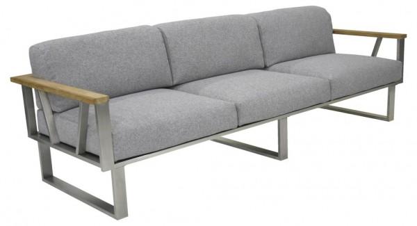 Zebra Belvedere Lounge Sofa 3-Sitzer inkl. Kissen Olefin grey