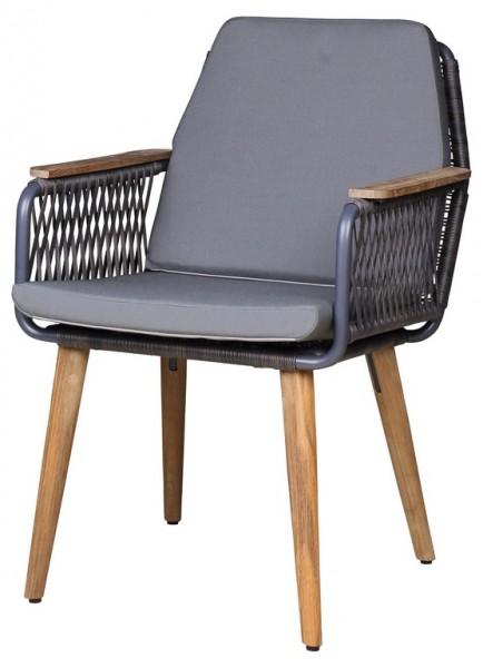 Zebra Flix Dining Sessel (Sitz- und Rückenkissen optional)