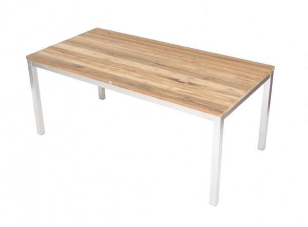 Green Tisch 180 x 90 cm Edelstahl / Teak massiv gebürstet