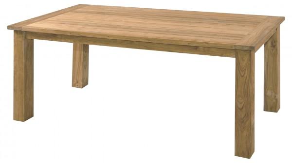 Zebra Oskar Teak Tisch recycelt gebürstet 180 x 90 cm