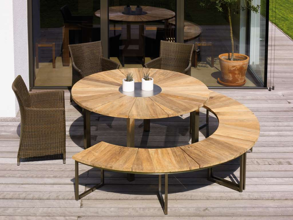 Zebra Onyx Gartentisch Tisch Rund 160 Cm Gartenmobel Von Talaso
