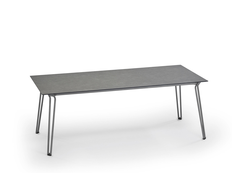 weish upl slope tisch edelstahl hpl platte steingrau 200 x 90 cm f r garten und wohnen talaso. Black Bedroom Furniture Sets. Home Design Ideas