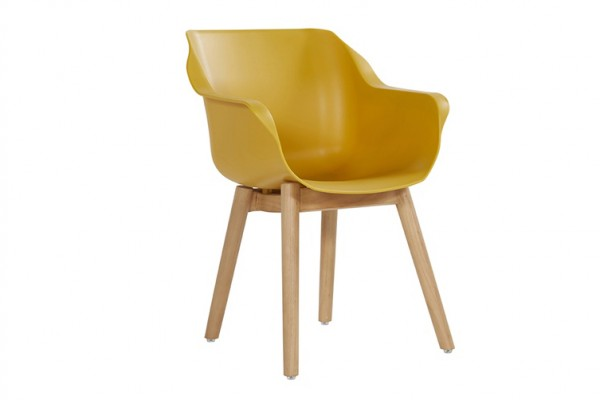 Hartman Sophie Studio Sessel Teak/Kunststoff Curry Yellow