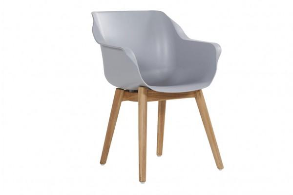 6x Hasrtman Sophie Studio Teak Armchair misty grey