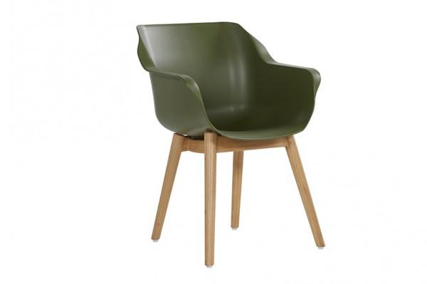 Hartman Sophie Studio Sessel Teak/Kunststoff Moss Green