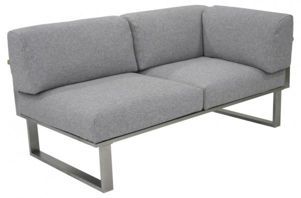 Zebra Belvedere Lounge Sofa 2-Sitzer Armlehne rechts inkl. Kissen Olefin grey