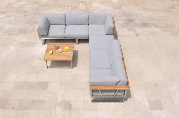 Zebra Belvedere Lounge Set 4-teilig Eckkombination inkl. Kissen Olefin grey