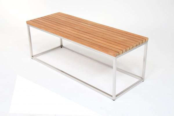 bon amy bank beistelltisch 120 cm edelstahl teak f r outdoor und indoor talaso gartenm bel. Black Bedroom Furniture Sets. Home Design Ideas