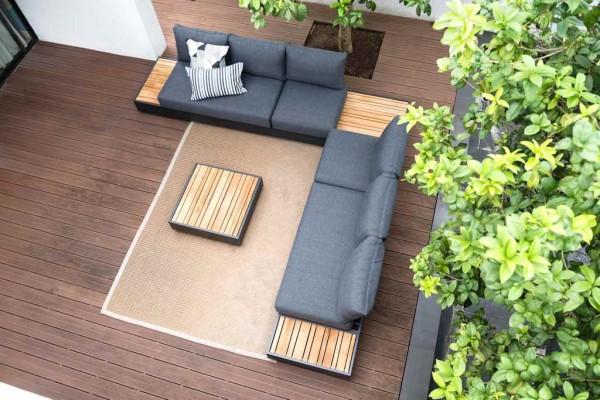 Zebra Cubo Lounge 3-Sitzer Sofa inkl. Kissen mit Cubo Lounge Sessel und Cubo Loungetisch (optional)