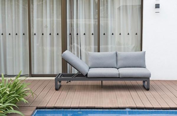 Zebra Fly Lounge Sofa 3-Sitzer inkl. Kissen mixed grey