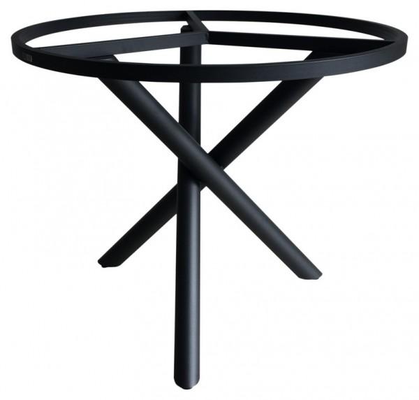 Tischgestell Rund.Zebra Mikado Aluminium Tischgestell Graphite Rund 110 Cm Mit Wählbarer Tischplatte