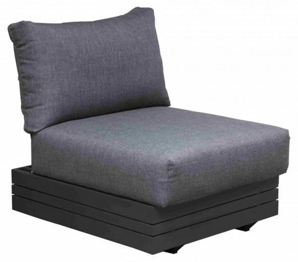 Zebra Cubo Lounge Sessel inkl. Kissen Olefin dark grey