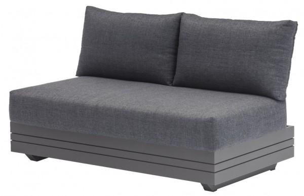 Zebra Cubo Lounge 2-Sitzer Sofa inkl. Olefin-Kissen dark grey