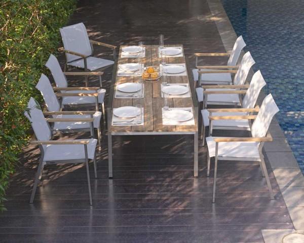 Zebra Gartenmöbel Set Infinity/Kubex 7-teilig (hier gezeigt mit 8 Infinity Sesseln)