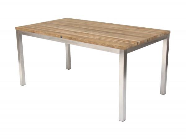 Green Tisch 160 x 90 cm Edelstahl / recyceltes Teak | Talaso ...