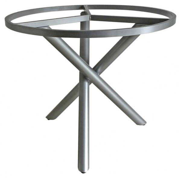 Zebra Mikado Aluminium Tischgestell silber palladium