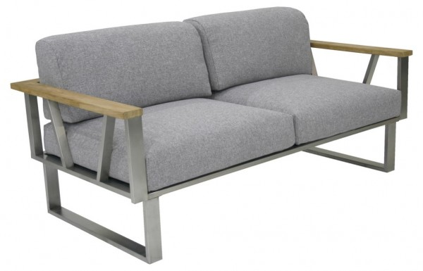 Zebra Belvedere Lounge Sofa 2-Sitzer inkl. Kissen Olefin grey
