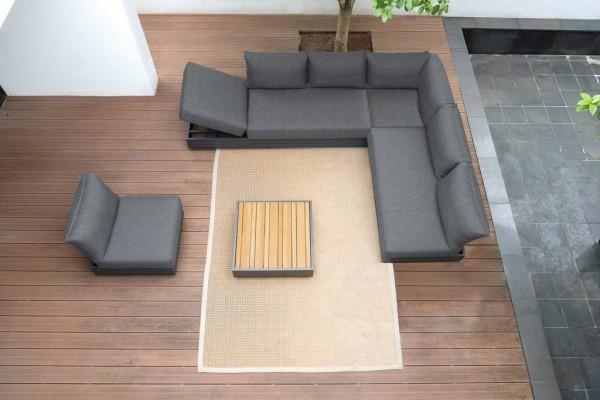 Zebra Cubo Lounge Set 5-teilig inkl. Kissen Olefin dark grey