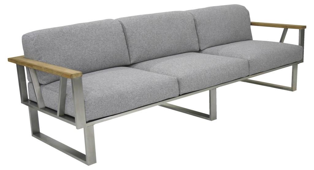 Zebra Belvedere Lounge Sofa 3 Sitzer Inkl Kissen Olefin Grey