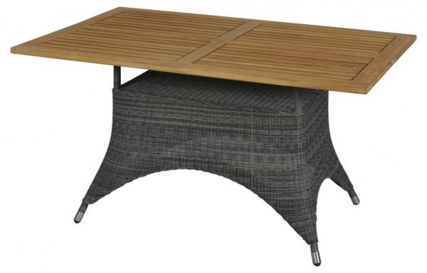 Zebra Status Tisch 140 x 90 cm grey black