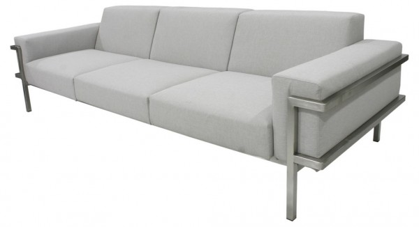 Zebra Largo Lounge Sofa 3-Sitzer medium grey